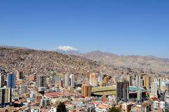 City of La Paz Bolivia from Killi Killi Viewpoint Stock Image