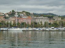 City of La Spezia. Seen from the port Royalty Free Stock Images