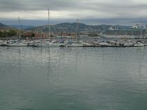City of La Spezia. Seen from the port Stock Image