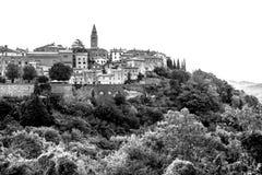 City of Labin in Istria in Croatia. Scenic City of Labin in Istria in Croatia stock photo