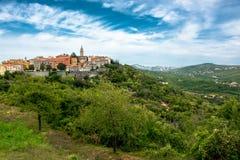 City of Labin in Istria in Croatia. Scenic City of Labin in Istria in Croatia royalty free stock image