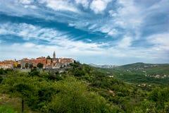 City of Labin in Istria in Croatia. Scenic City of Labin in Istria in Croatia stock photography
