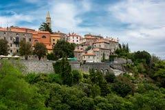 City of Labin in Istria in Croatia. Scenic City of Labin in Istria in Croatia royalty free stock photos