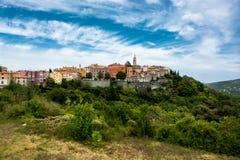 City of Labin in Istria in Croatia. Scenic City of Labin in Istria in Croatia royalty free stock photo