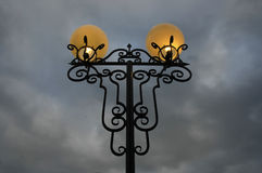 City lamp at night Royalty Free Stock Images
