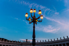 City lamp in Vatican Stock Photography