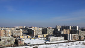 City landscape. Moscower landscape in spring - district and sky Stock Photo