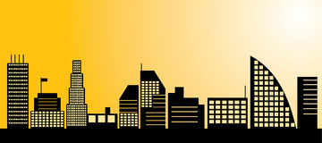 City landscape. Vector illustration for your designs Royalty Free Stock Images
