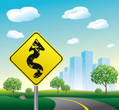 City landscape. Road illustration artwork Royalty Free Stock Photos