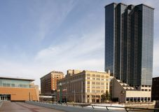 City landscape. View of downtown Grand Rapids, MI Royalty Free Stock Image