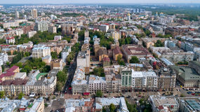 City landscape. aerial photography Stock Images