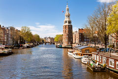 City landscape of Amsterdam, Netherlands Royalty Free Stock Images