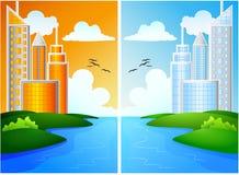 City landscape background Stock Image