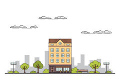 City landscape banner Royalty Free Stock Photos