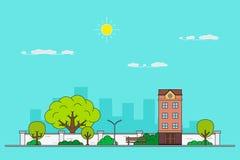City landscape banner Stock Image