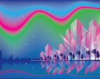 City Landscape beautiful. City Landscape. Beautiful night abstract background town royalty free illustration
