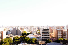 City landscape. Beautiful view of my city on a sunny day Royalty Free Stock Image