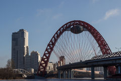 City landscape,the bridge of Royalty Free Stock Photos