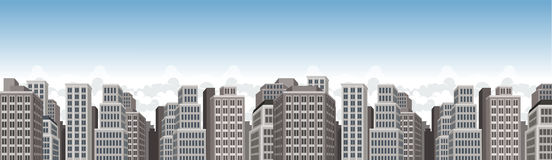 City landscape with buildings Royalty Free Stock Photography
