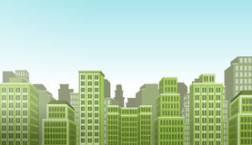 City landscape with buildings Stock Photography