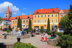 City landscape in the city of Pravdinsk Royalty Free Stock Photos