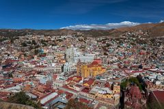 City Landscape Of Colorful Colonial Guanajuato In Mexico stock photography