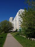 City landscape in an ecologically clean place in Khimki, Russia. City landscape in an ecologically clean place in the city of Khimki, Russia stock photo