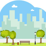 City landscape. Flat design, vector illustration, vector vector illustration