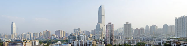 The city landscape of Guangzhou in china. Panorama royalty free stock image