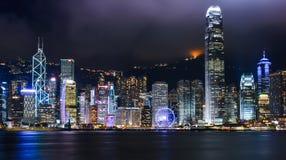 City Landscape of Hong Kong from Star of Avenue. Hong Kong Royalty Free Stock Photography
