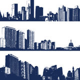 City landscape illustrations Royalty Free Stock Image