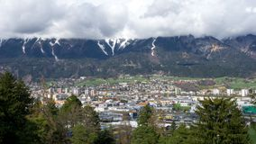 City Landscape of Innsbruck,Tyrol royalty free stock images