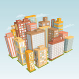 City landscape. Isometric view. vector illustration