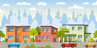 City landscape. With modern houses vector illustration