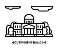 City landscape. municipal building, Hall, the Government, the court on the background Stock Photography
