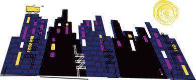 City Landscape at Night Royalty Free Stock Image