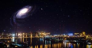 City landscape at night. Royalty Free Stock Image