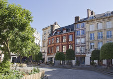 City landscape in Normandy. France in summer. Stock Photo