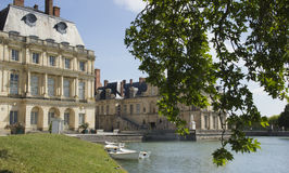 Palace of Fontainebleau.  France in summer.  Royalty Free Stock Photo