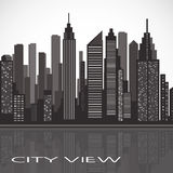 City landscape. panorama of the evening megalopolis Royalty Free Stock Image
