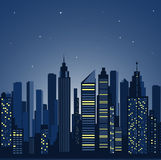 City landscape. panorama of the night city Stock Photo