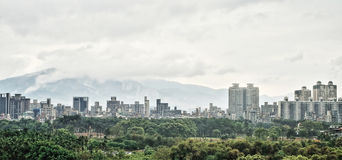 The city landscape panorama in Taipei on Taiwan Royalty Free Stock Image