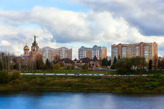 City landscape of the provincial Russian city Royalty Free Stock Photos