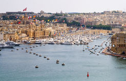 City landscape on the seaside in malta.  Stock Photography