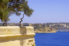 City landscape on the seaside in malta Royalty Free Stock Image
