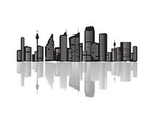City landscape, silhouettes of Royalty Free Stock Images
