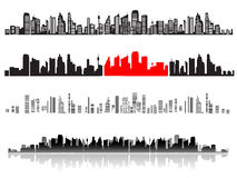 City landscape, silhouettes of royalty free stock photography