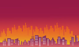 City landscape silhouettes vector Stock Photos