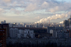 City landscape - the Southwest of Moscow. Russia. View from the window on the city Royalty Free Stock Image