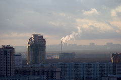 City landscape - the Southwest of Moscow. Russia. View from the window on the city Stock Image